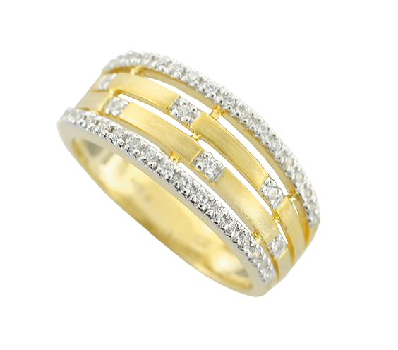 Multi row Diamond ring