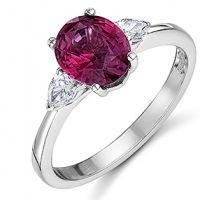 Spinel and Diamond 3 stone