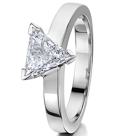 Triangular Diamond Solitaire