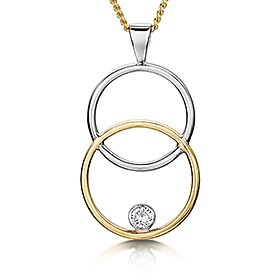 Diamond circles design pendant