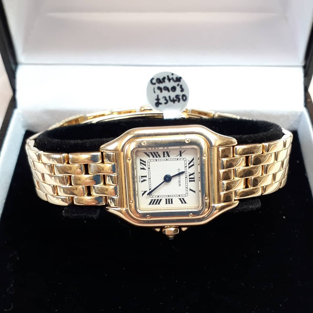 Pre-owned 18ct gold Cartier watch | £3450