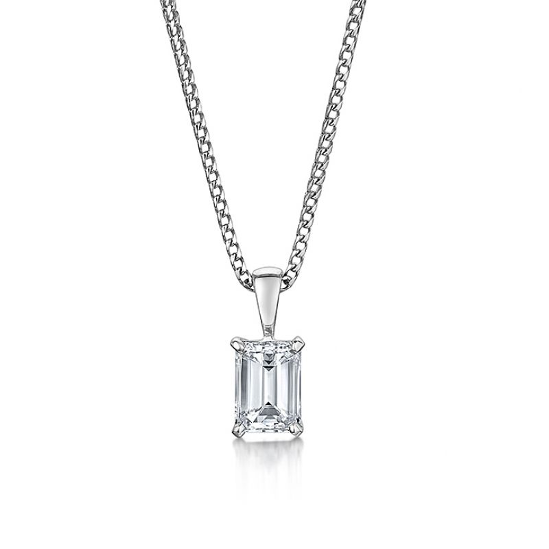 diaomnd classic pendant emerald pendants cut necklace diamond collections graff