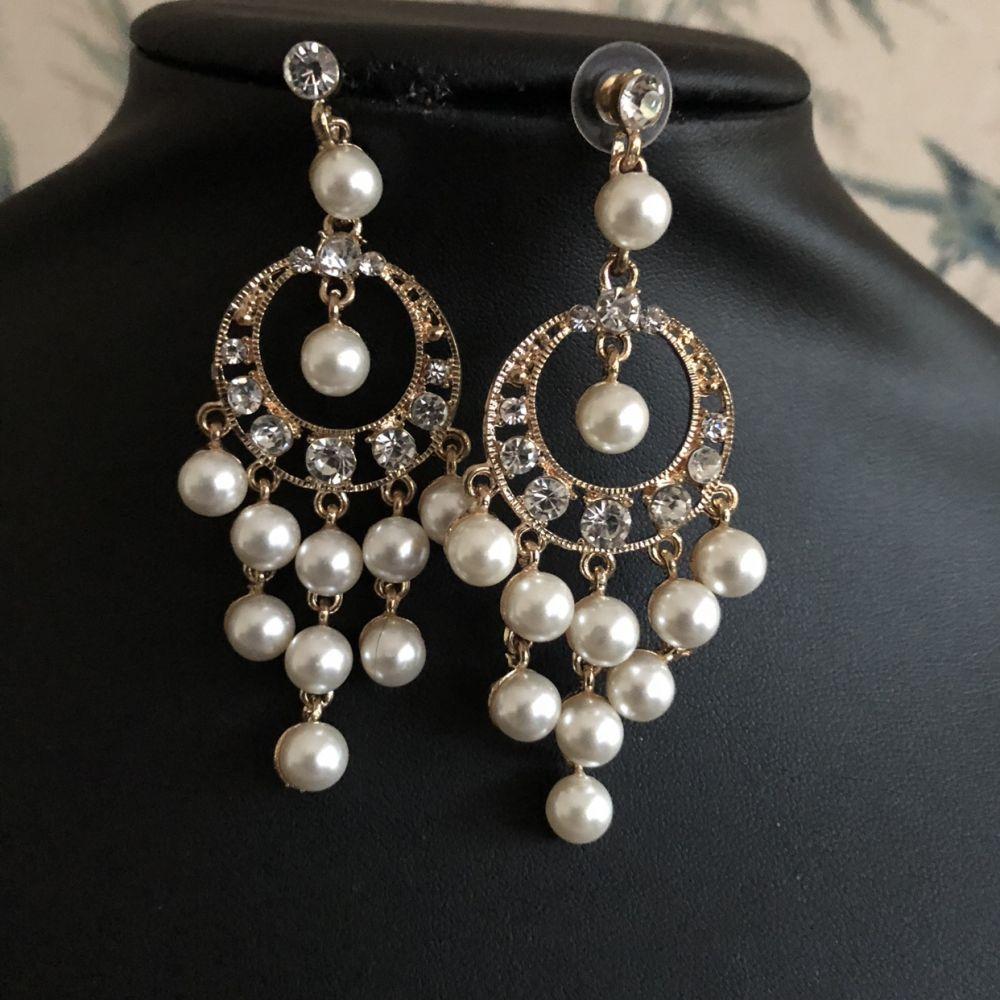 Peaky Blinders style Pearl Earrings